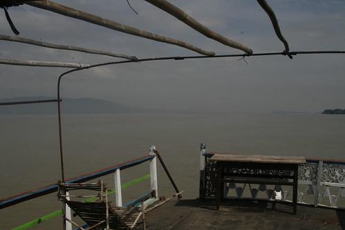 Cubierta del barco a Mingun