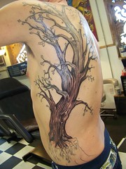 Large Tree Tattoo (cirilo69serrano) Tags: color tree tattoo back large ribs wa moseslake coffincity