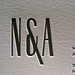 Refined Letterpress Business Cards - N&A