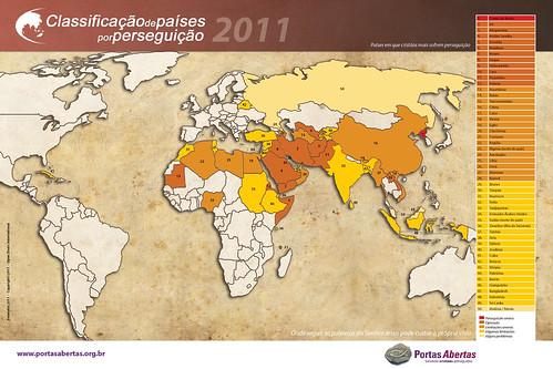 Classifiação de Países por Perseguição 2011