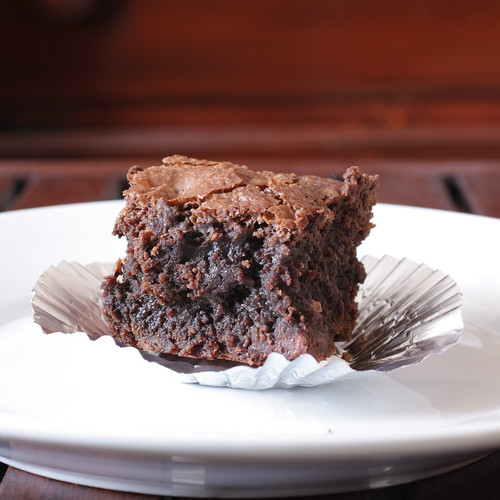 brownie close-up
