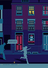 Midnight in Chelsea (DimitraTzanos) Tags: road street uk houses homes shadow southwest london illustration night children design graphics chelsea googlemaps unitedkingdom map 5 laptop maps profile lifestyle postcode professional flats cartography editorial form mapping vectors informationdesign infographics adobeillustrator sw3 markhamsquare dimitratzanos tzanos   singlesillustration