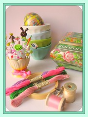 Happy First Day of March! (Pinks & Needles (used to be Gigi & Big Red)) Tags: roses flower bunny mushroom thread vintage hoop woodland butterfly tin japanese spring candy box embroidery chocolate egg plush deer polkadots german kawaii cabbage carrot plushie daisy lamb pincushion crafty anthropologie latte bowls springy eggcup happythings donotcopy sewingthings gigiminor pinksandneedles pintoppers pintopper boilfast pleasebeniceandnotcopymydesigns designimagebypinksneedles stitctch
