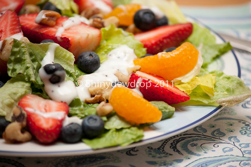 Fresh berry, citrus and walnut salad
