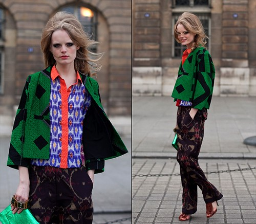 Dries Van Noten print pants