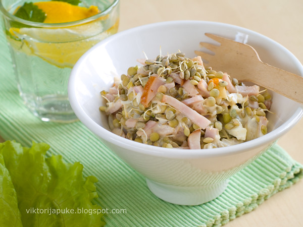 Leek and chicken salad
