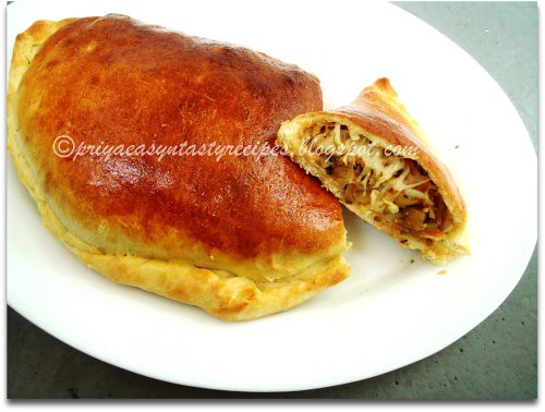 Cheesy Artichoke & Mushroom Calzone