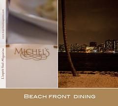 Michel's restaurant - Waikiki Beach (Scrumptious Venus) Tags: travel hawaii restaurant waikiki oahu review honolulu guide waikikibeach michels beachfrontrestaurant colonysurf beachsiderestaurant lespritsudmagazine michelsrestaurant onedayinhonolulu michelsatthecolonysurf