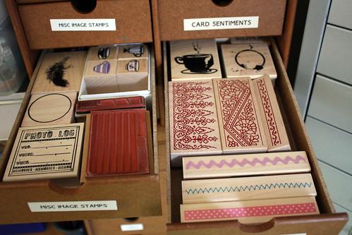 Stamp drawers