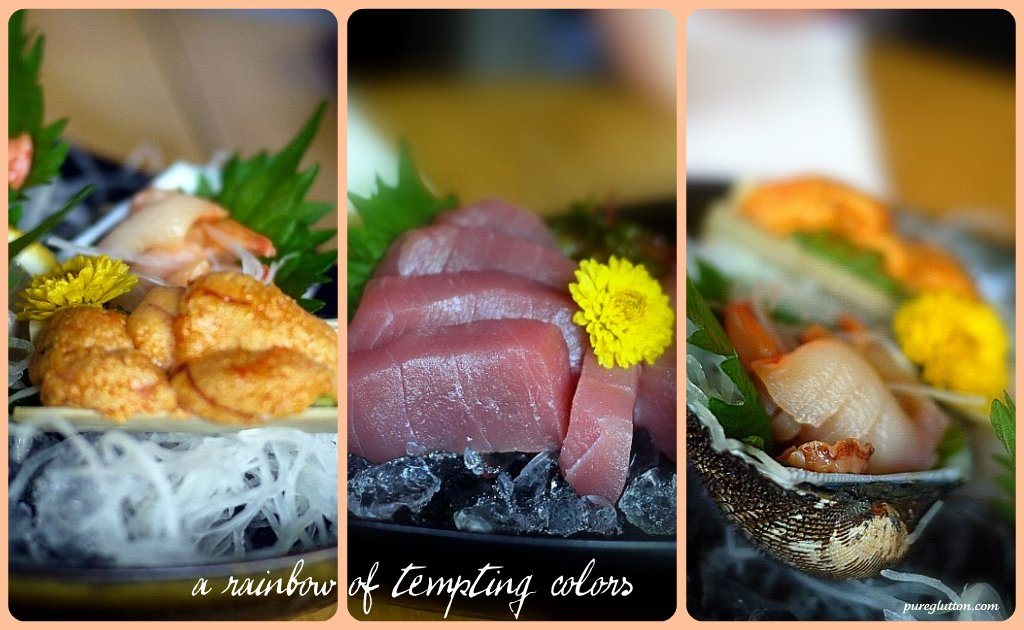 sashimi collage