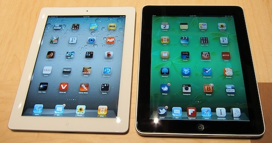 iPad 2 next to iPad 1