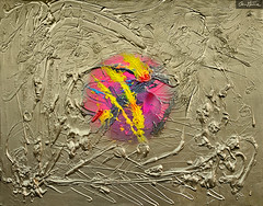 Chaotic Balance (Ben Heine) Tags: pink motion sexy texture rose composition painting circle liberty gold freedom golden crazy mix movement acrylic technology message abstractart contemporary decorative or lounge decoration perspective culture rorschach philosophy kitsch science bijou minimal peinture canvas relief illusion sphere madness round expressionism impressionism reality abstraction form meditation intuitive visible fusion genesis heavy comet flashy reference jewel imagery toile blend arcenciel spontaneous psychology logic bigbang interpretation selectivecolor visuallanguage rond doré spermatozoide folie semen theartistery demence benheine genèse chaoticbalance