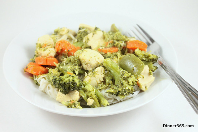 Day 64 - Green Curry Chicken Noodles