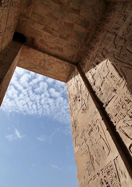 エジプト ルクソール ラムセス3世葬祭殿(メディネト・ハブ)