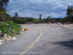 pequeño tramo de carretera abandonada en Cotobade