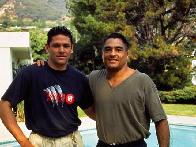 TAEKWONDO CHAMPION ANDRE LIMA AND BRAZILIAN JIU JITSU MASTER RICKSON GRACIE (1996) by JovanaZubak