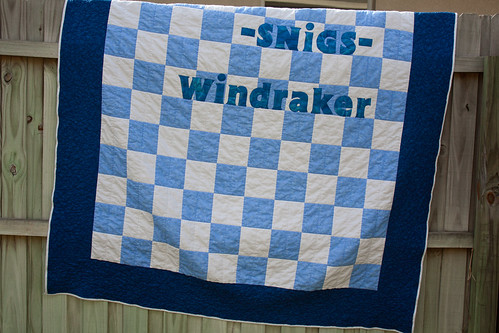 Blue & White Lap Quilt