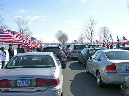 flags of Honor by volunteer Patriot Guards