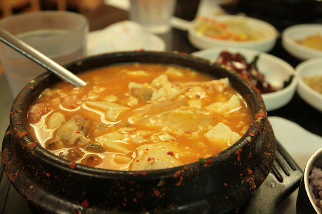 seafood + soft tofu