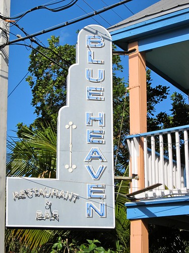 Blue Heaven Restaurant & Bar Sign