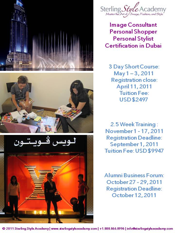 Dubai Personal Stylist Training Sterling Style Academy