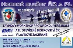 Lavinový workshop a MČR v lavinové záchraně