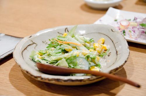 魚卵伴沙拉