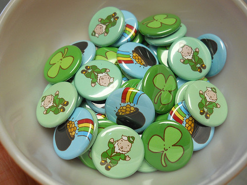 St. Patrick's Day Button Set 2