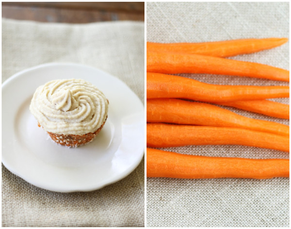 raw carrot cupcakes with cashew buttercream