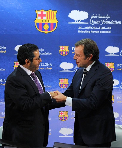 CORRECTION-FBL-ESP-BARCELONA-SPAIN-QATAR-SPORT-SPONSORSHIP