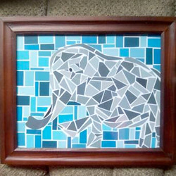 Paint Chip LL - Elephant Mosaic