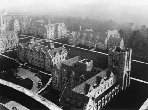 Duke Academic Quad from Duke Chapel, c.1932