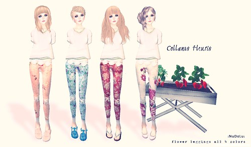 NuDoLu Collants fleuris AD