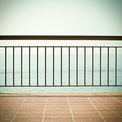 (light thru my lens) Tags: sea canon fence mar girona paseo catalunya boya costabrava passeig buoy gettyimages boia lloretdemar verja barana reixa eos7d lightthrumylens