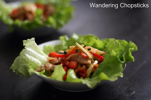 Chinese Lettuce Wraps with Chicken, Water Chestnuts, and Bell Peppers 1