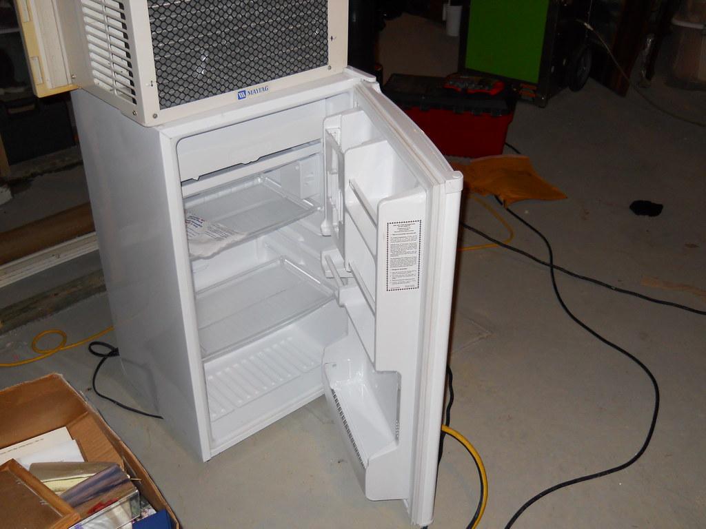 White Compact Refrigerator