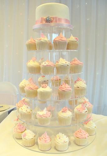 Pink White Wedding Cupcakes The Gateway Hotel Nottingham