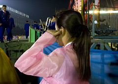 Mass dancing in Pyongyang - North Korea (Eric Lafforgue) Tags: voyage travel woman color colour girl horizontal concert war asia dress robe feminine femme ears korea nighttime hanbok asie liveband custom noise soir 2008 coree fille sono couleur northkorea ideology axisofevil pyongyang bruit eastasia feminin dprk coreadelnorte traditionalclothing juche nordkorea 6557 dictature democraticpeoplesrepublicofkorea    koreanpeninsula coreadelnord  juchesocialistrepublic coreedunord rdpc  koreanethnicity insidenorthkorea  rpdc  kimjongun coreiadonorte  joseonot boucheoreille boucheroreilles