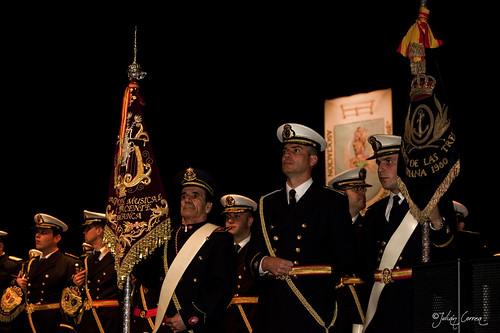 Banda CCTT Tres Caídas (Triana) y Agrupación Musical Cristo Yacente (Salamanca), Final del acto
