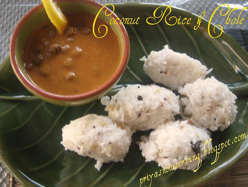 Coconut Rice &Chole