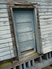 Blue door (old desolate) Tags: laconner skagitriver padillabay