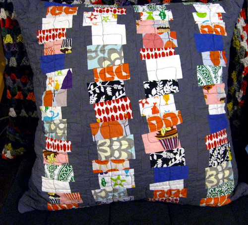 Jenga pillow front
