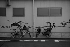 street (troutfactory) Tags: street blackandwhite bw film monochrome japan 35mm voigtlander bessa rangefinder bicycles  analogue neopan1600 kansai    ultron r2a