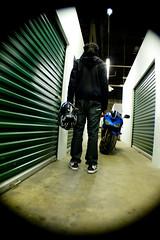 KHOP & Bike. (Mel Sherman) Tags: dreadlocks ninja 2006 motorcycle dreads kawasaki dredlocks dreds zx6r motorcyclehelmet 636 barreleffect 2006kawasakininjazx6r636 posingalone
