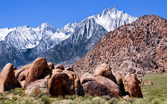 Just Outside of Lone Pine, CA (Matt Granz Photography) Tags: desktop blue wallpaper sky snow mountains pine spring nikon alabama sierra hwy hills lone eastern 395 d90 mattgranz