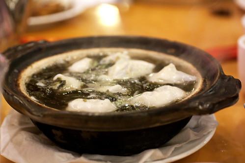 pork & veg wontons casserole @ nan xiang