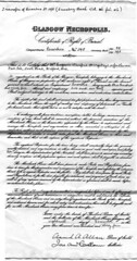 Certificate of Right of Burial