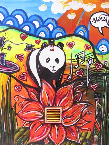 Black Box wall fresco Panda