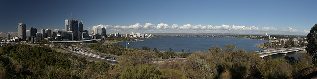 Perth CBD from Kings Park (before sunset)