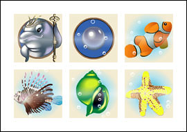 free Dolphin King slot game symbols